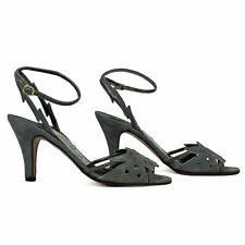 Vintage 1980s Bennis Edwards Floral Cutout Glam High Heel Sandal Shoes