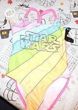 Girls Star Wars UPF 50+ UV Protection One Piece Swimsuit Sz Small NWT