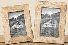 1x BILDERRAHMEN für 9x13cm Bilder Holzbilderrahmen Landhaus Natur Rahmen NEU