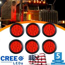 6X Tail Light Red 12-LED 4 Inch Round Reverse Back-Up For Car Trailer Truck RV