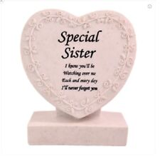 Memorial/Grave Heart ~ CremationMarker/Plaque ~ SISTER