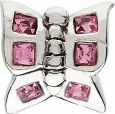 AUTHENTIC CHAMILIA 925 STERLING SILVER BUTTERFLY PINK CZ JB-2A CHARM BEAD NEW