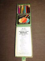 VINTAGE EBERHARD FABER MONGOL NO. 741 COLORED THIN LEAD PENCILS IN BOX