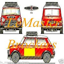 MINI COOPER S 1967 Poster voiture sport auto yougtimer vintage Arts décoration