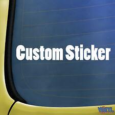 2x Custom Car Stickers Personalizado Nombre Custom Shop ventana de parachoques etiqueta