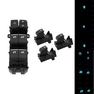Lighted LED Power Window Switch Set For Toyota RAV4 2019-2021 Bule Backlight
