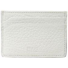 Hugo Boss Men's Victorian-LFW-S Genuine White Leather Card Holder Wallet