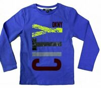 RRP £34.99 DKNY Cotton Logo Print Long Sleeve T-Shirt B15