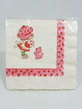 Vintage Strawberry Shortcake Luncheon Dinner Napkins LARGE ~ Ice Cream ~ Sealed