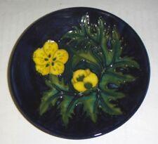 Hermoso Moorcroft Coaster-Buttercup por Sally tuffin 1991