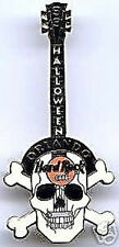 Hard Rock Cafe ORLANDO 1999 HALLOWEEN Guitar PIN Skull with Crossed Bones