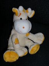 doudou peluche girafe jaune orange coeur KIMBALOO la halle 16cm