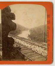 Stereoview Pack Saddle Western Point 1870s RD Crum Watkins New York Landscape