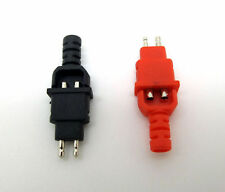 One Pair Rhodium plated Plugs for DIY Sennheiser Headphone Cables HD600 HD650