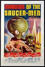 INVASION OF THE SAUCER-MEN ALBERT KALLIS SCI-FI 1956 1-SHEET ON LINEN