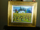 Leslie Toms Gallery Original Oil on Canvas Napa Valley Vineyards California