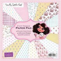 Pack 16 sheets Crafters Companion Pasteles Maltratado Gatita 6x6 Muestra Papeles