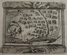 VILLE DE DIU , INDE , AU LARGE DE LA PENINSULE DE KATHIAWAR , AU GUJARAT , 1748