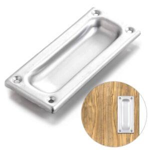 90MM FLUSH RECESSED SLIDING DOOR PULL HANDLE Draw Furniture Inset Satin Silver