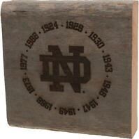 "Notre Dame Fighting Irish 7"" x 7"" 11 Time National Champs Engraved Stadium Bench"