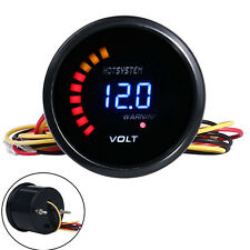 """2""""52mm Digital 20LED Electronic Volt Voltmeter Voltage Gauge For Car US Shipping"""