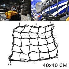 40*40cm 6 Crochet Filet Araignée Porte Bagage Casque Elastique Noir Pour Moto