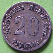 ALLEMAGNE 20 PFENNIG 1875 A