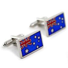 AUSTRALIA FLAG CUFFLINKS High Quality w GIFT BAG Wedding Groom Australian Pride