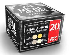 AK Interactive #AKI-RCS020 Real Colors: Arab Armor Desert Paint Set
