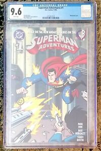 SUPERMAN ADVENTURES #1 ~ CGC 9.6  ~ DC COMICS ~ ANIMATED ~ BRUCE TIMM COVER