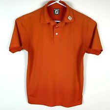 Footjoy Athletic Fit Orange Premium Golf Polo Shirt Size Men's Medium
