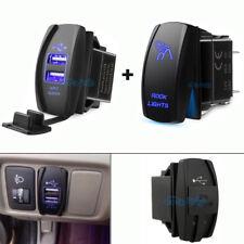 USB Charger + ROCK LIGHTS Rocker Switch For Polaris Can-am HONDA YAMAHA UTV ATV