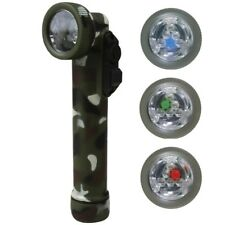 MILITARY 6 LED ANGLE TORCH & EMERGENCY FLASHLIGHT FILTERS ARMY CADET CAMOUFLAGE