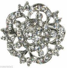 Rhinestone Flowers/ Plants Costume Brooches & Pins
