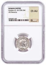 Roman Empire, Random Silver Denarius (1st-3rd Centuries AD) NGC Ch. AU SKU47142