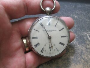 Antique Fusee NONRUNNING Silver Pocket Watch OLIVIER QUARTIER