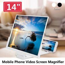 14'' Folding Mobile Phone Screen Magnifier 3D HD Amplifier Stand Bracket Enlarge