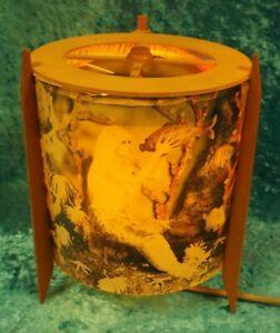 DDR Lampe Tischlampe Drehlampe Nixe mit Fisch im Wasser 60er Jahre Vintage