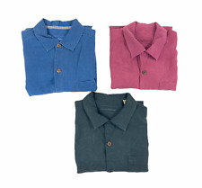 Lot of 3 Tommy Bahama Original Fit Mens Button Front Short Sleeve Shirts Size M