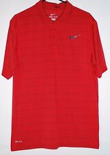 NIKE DRI-FIT Mens Polo Golf Shirt   Red  Short sleeve  Size L   O580