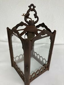 Vintage/Antique Wrought iron Hanging Outdoor/Indoor Rustic Country LAMP