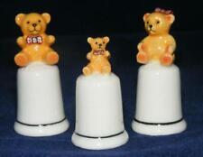 Klima Porcelain Three Bears on Thimbles M134