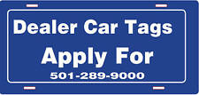 Customizable Printed Car/Truck Tags - 100  Tags Only $298.68