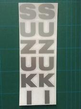 Suzuki Fork leg decals - Silver - GSXR, SRAD, SV, GS, GSX etc