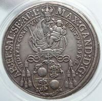 1674 AUSTRIA Salzburg Max Gandolf von Kuenburg Silver Taler Coin ANACS i86960
