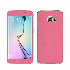 22 FAR. SAMSUNG GALAXY S6 FOLIE ROSA CARBON skin bumper case pink design cover