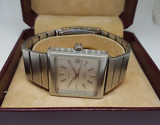 NOS VINTAGE RARE ZENITH DEFY SILVER DIAL DATE AUTOMATIC MAN'S WATCH BOXED