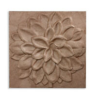 Copper  Glitter 3D Dahlia Flower Floral Sparkly Canvas Wall Art Picture