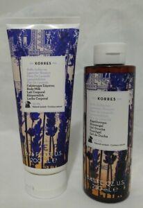 Korres Lavender Blossom Shower Gel 250ml/8.45oz & Body Milk 6.76oz  NEW