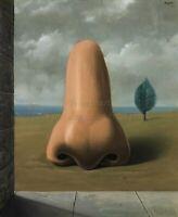 "RENE MAGRITTE Surrealism Art Poster or Canvas Print ""La Bonne Aventure"""